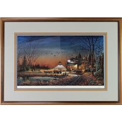 """Signed """"Welcome to Paradise"""" lithograph"""