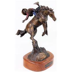 """""""Marvin Garrett World Champion"""" bronze by SD"""
