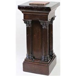 Ornate antique wood pedestal