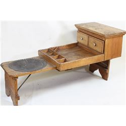 19th C. wood cobblers bench
