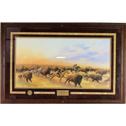 """""""The Chase Dances with Wolves"""" by Tom Phillips"""