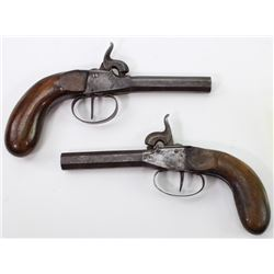 Collection of 2 antique percussion pistols