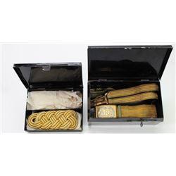 Civil war period leather medical saddle bags