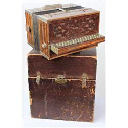 Early Louis Miller San Fran CA button accordion
