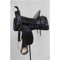 Charles Shipley stamped square skirt saddle