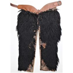 Large black wooly chaps