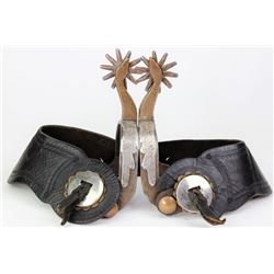 Frank Troxell stamped goose head spurs