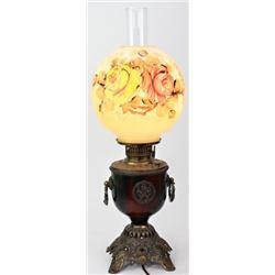 Ornate Victorian parlor lamp