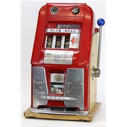 Miles 10 cent Hightop Blue Bell slot machine
