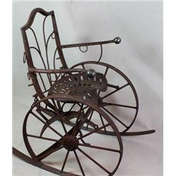 Ranch art metal rocking chair