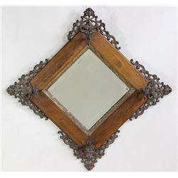 C. 1890-1910 ornate wall mirror