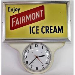Vintage Fairmont Ice Cream advertising clock