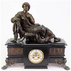 Beautiful Victorian statuary mantle clock