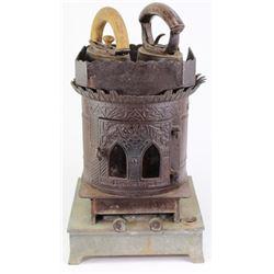 Antique table top sad iron gas stove heater