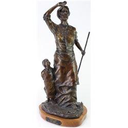 "Bronze ""Prairie Lady"" by SD artist Tony Chytka"