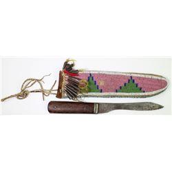 C. 1890's Northern Plains beaded knife sheath