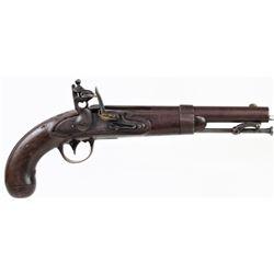 Antique flintlock pistol marked A Waters Milbury