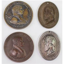 Collection of 4 Indian Peace metals