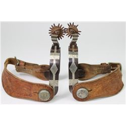 Unmarked double mounted silver inlaid