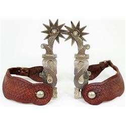 California snake pattern style spurs, contemporary