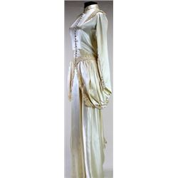 Beautiful Edwardian silk wedding or ball gown