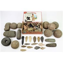 Large collection of stone artifacts found in