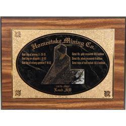 Homestake Mining Co. 1876-2002 Lead, SD.