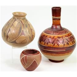 Collection of 3 pottery pieces