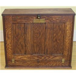Antique table top drop front desk cabinet