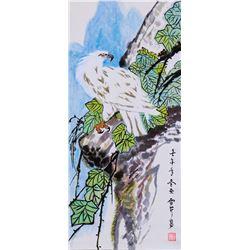 Li Xueqin 20th Century Chinese Watercolor Scroll