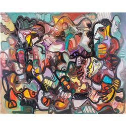 Serge Deherian Canada b.1955 OOC Abstract