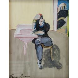 British Expressionist Gouache Signed Francis Bacon
