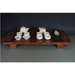 "A Contemporary Chinese Style Tea Sets with a free ""Xiang Yun"" Tea Table and a Incense Tray."