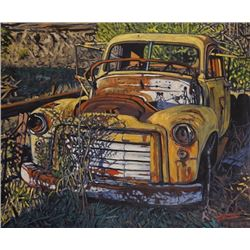 "An Oil Painting ""Left To Rust"" by Dan Varnals."