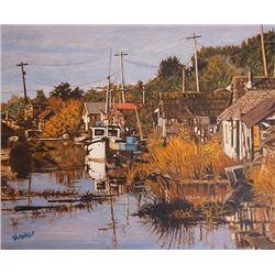 "An Oil Painting ""Return To Finn Slough"" by Dan Varnals."