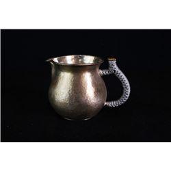 """A """"Wan Mei"""" Silver Teapot by Shi,Yaqing with Certification 0016."""