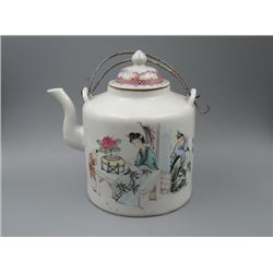 "An Old Republican Era ""Figure"" Loop-Handle Teapot."