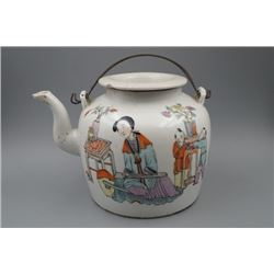 "A Late Qing Dynasty Famille-Rose ""Figure"" Teapot."