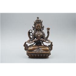 A Bronze Avalokitesvara Statue.
