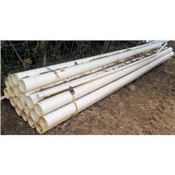 Bundle of PVC Pipes, Approx. 20' Length, Approx. Qty 19