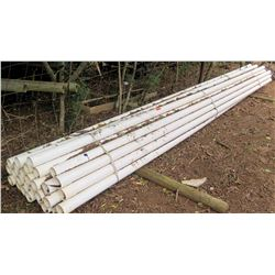 Bundle of PVC Pipes, Approx. 20' Length, Approx. Qty 20