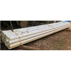 Bundle of PVC Pipes, Approx. 20' Length, Approx. Qty 27