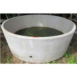 "Concrete Water Trough, Approx. 6' Dia, 27"" Height"