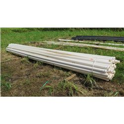 Bundle of White PVC Pipes, 20 ft, Approx. Qty 50