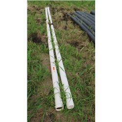 White PVC Pipes, 20 ft, 5  Dia., Qty 2