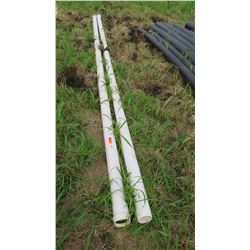 Qty 2 White 100mm (Metric) PVC Pipes, 20 ft Length