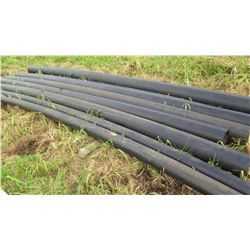 "Black PVC Pipes, Varying Lenghts 19'10"" (8.5"" dia), 10' (5.5"" dia), Qty 7"