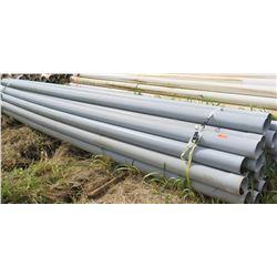 """Gray PVC Pipes 20'2"""", 6"""" Dia., Qty 23"""