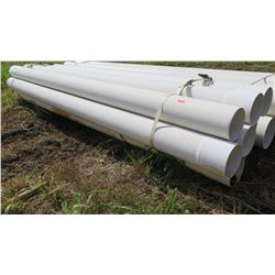 "Qty 9 Bundle of 315mm (Metric) White PVC Pipes, 19'9"" Length"