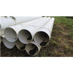 "Qty 6 White 315mm (Metric) PVC Pipes 20'7"" Length"